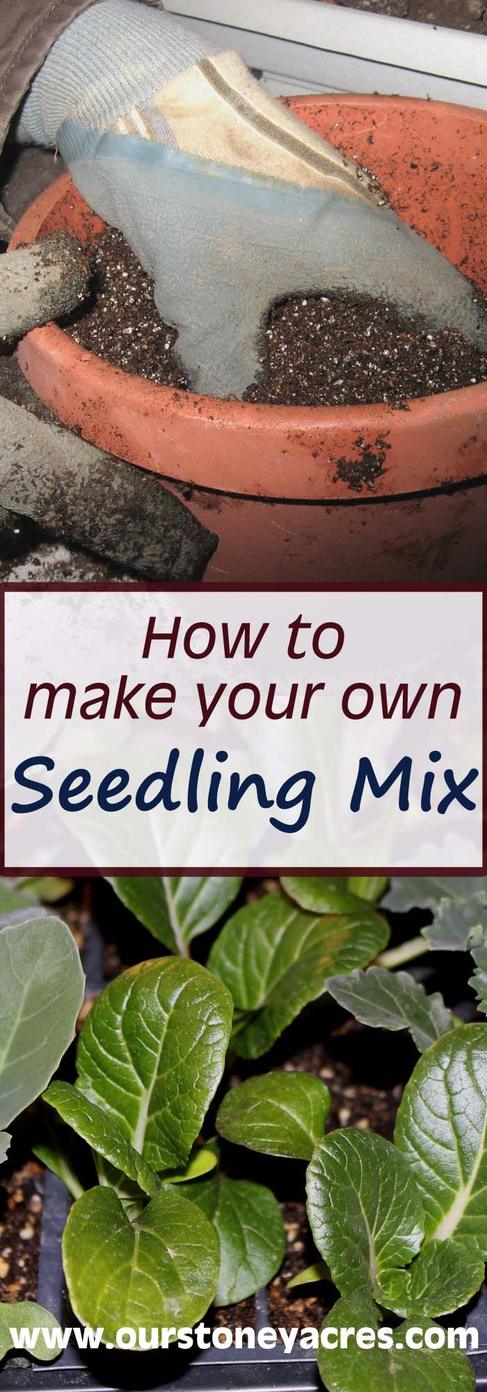 Making homemade seedling mix is quite easy and can save you a ton of money.  Especially if you plan on using a lot of it this year!  If you plan on growing your own seedlings for your garden this year be sure to learn how to make your own homemade seedling mix.  Learn how by reading this post!