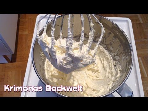 Original Amerikanische Buttercreme (fondanttauglich) / how to make original american buttercream - YouTube