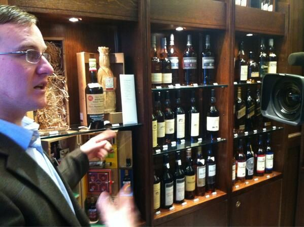 A fine collection of wine at Gleneagles Hotel