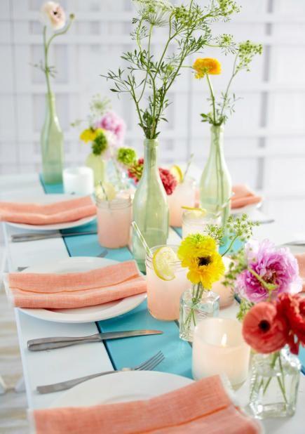 Easy spring decorating ideas bottle glass bottles