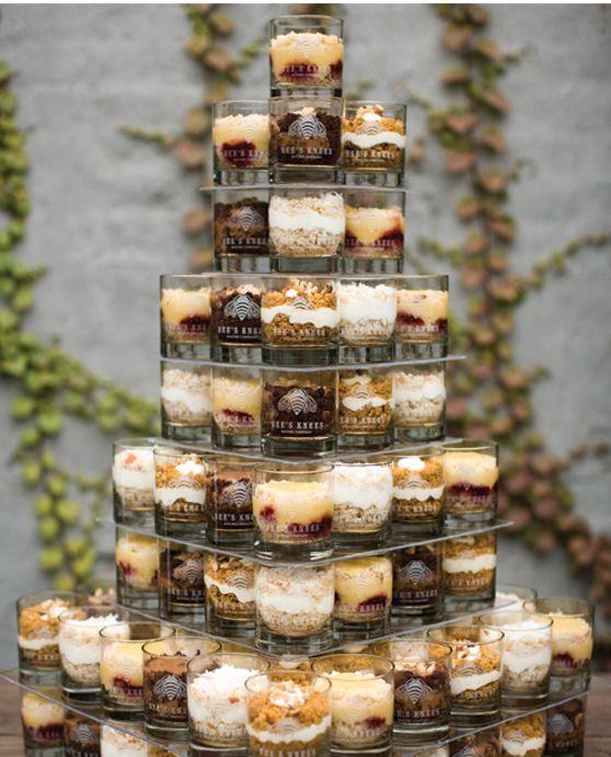 Shot Gl Desserts Instead Of A Wedding Cake Hmmmmm That