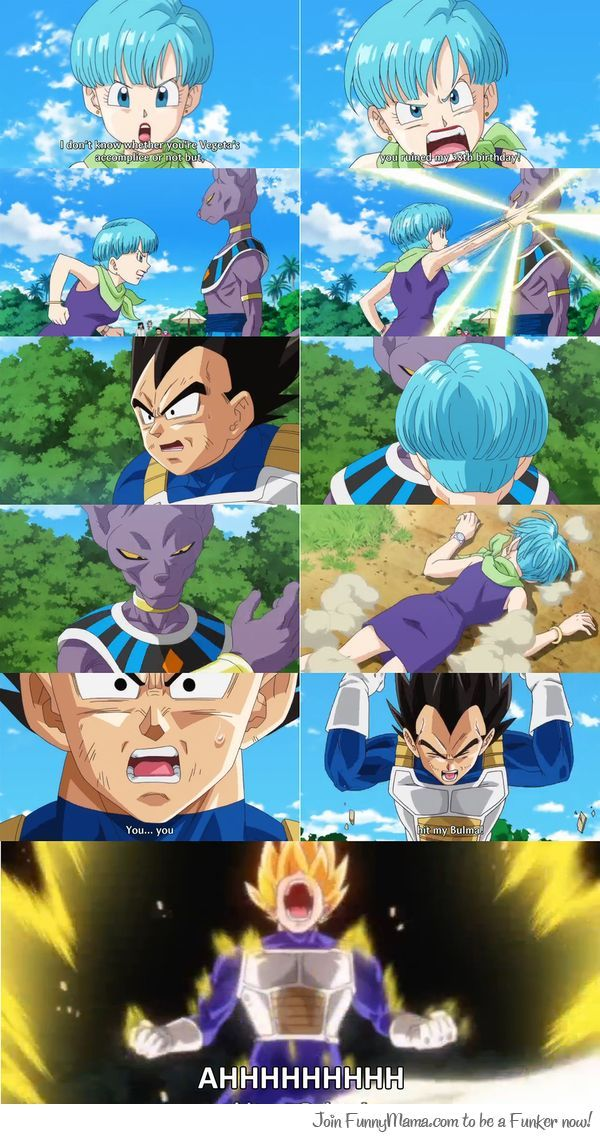 That moment when someone hits someone you care about and you go nuts/ Super Saiyan