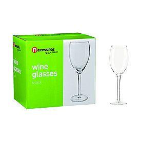 Necessities Wine Glass 6 Pack - $9