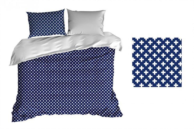 Posteľné prádlo z bavlny v modrej farbe