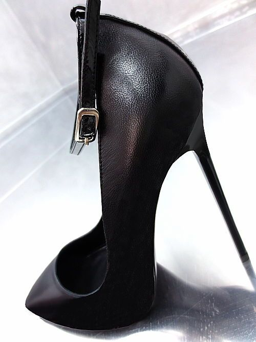 43f6afa56a1b52 LEDER HOHE PUMPS SCHWARZ ITALY DAMEN SCHUHE MR1 BEST BLACK LEATHER HIGH  HEELS
