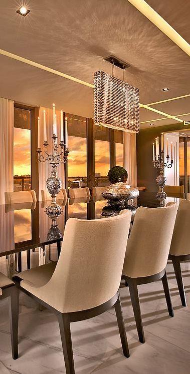 Dramatic dining room