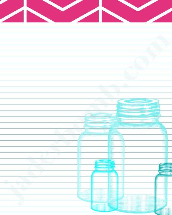 Free Mason Jar Printable- Great for Recipes  By:Jaderbomb