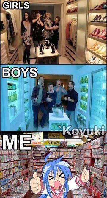¡¡Konata!! x3¿Que haces ahí? xd Esto es cierto.