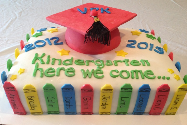 Vpk Classroom Ideas ~ Vpk graduation cake sweet treats by cherie pinterest