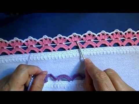 Bico em croche - PARA CANHOTA - YouTube