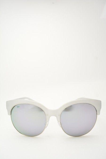 Logos ARIANNA silver sunglasses #sunglasses #logos #silverframe #greymirrored #butterfly #butterflyshape #blackgradientlens #bassanodelgrappa #designglasses #design #cheap online store at www.bassanooptical.com