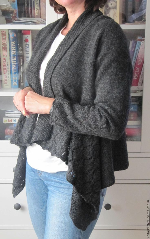 Элегантный кардиган - Анастасия Шатова (knitaddicted) - Ярмарка Мастеров http://www.livemaster.ru/item/16116035-odezhda-elegantnyj-kardigan