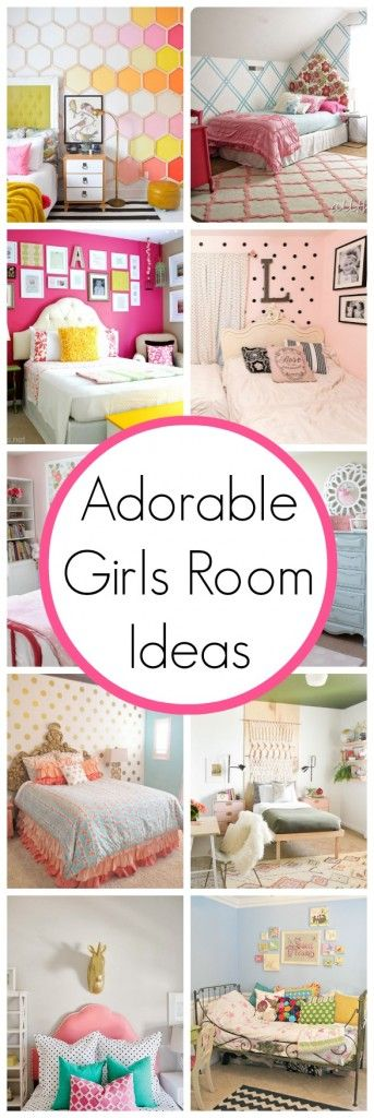 Just for Girls Room Ideas! Cute to chic..visit: http://www.classyclutter.net/2014/05/girls-room-ideas.html