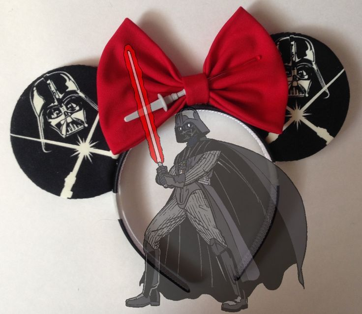 Disney Star Wars Darth Vader Glow In The Dark Mickey ears Minnie ears by seamcometrue on Etsy https://www.etsy.com/listing/246230868/disney-star-wars-darth-vader-glow-in-the