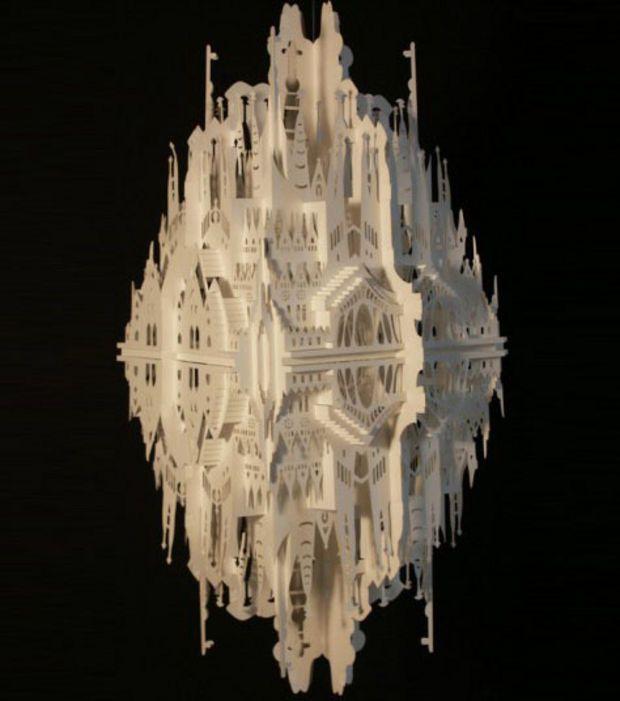 Photo : Sculpture de papier N°6/©Ingrid Siliakus