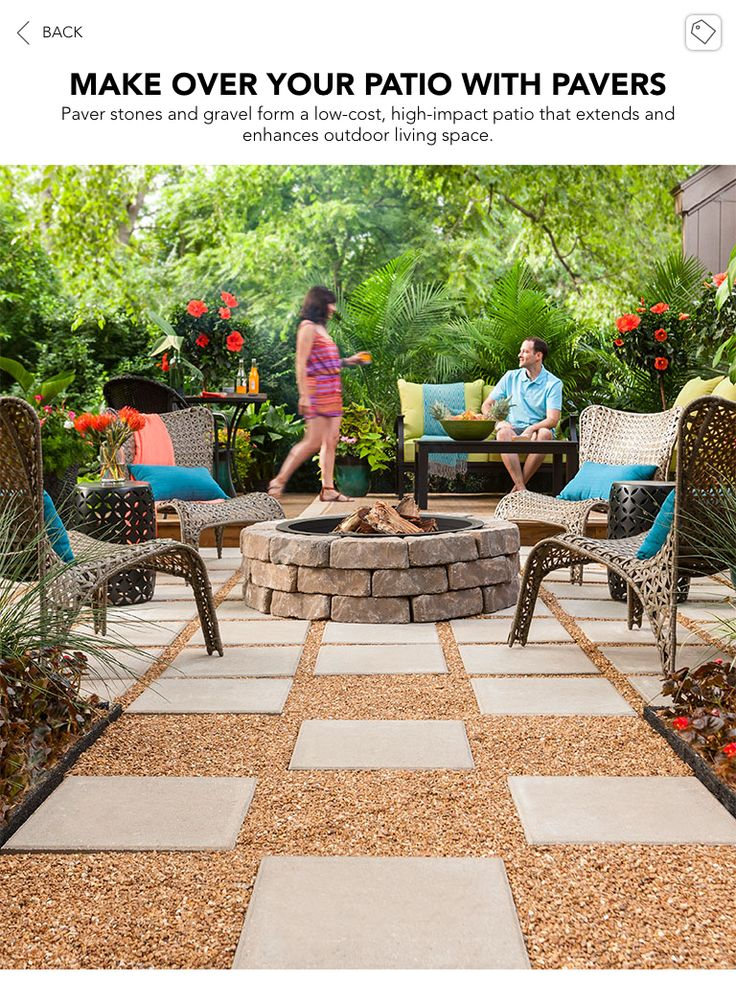 Lowes Creative Ideas. Paver And Pea Gravel Patio