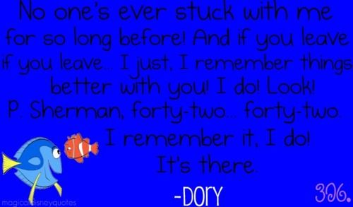 Dory Quotes Nemo Quotes  Nemo Quotes  Nemo  Pinterest  Disney Quotes