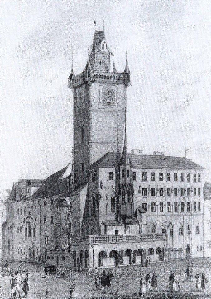 Rok 1830 - Foto vybral a popisky pořídil facebookový profil Staroměstská radnice v Praze