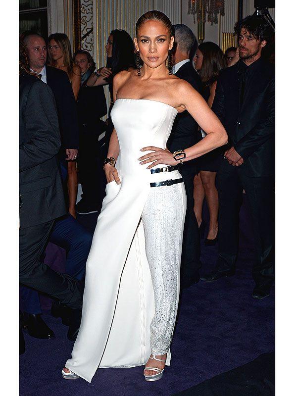 Jennifer Lopez pants/dress hybrid Dominique Charriau/WireImage