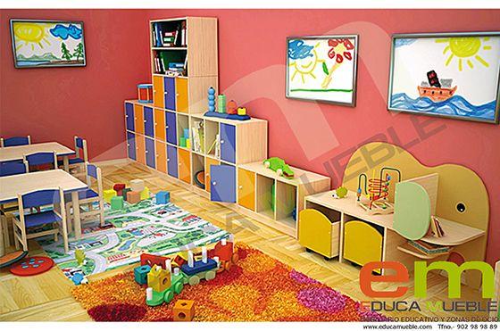 Set de #muebles compuesto por diferentes módulos. Perfecto como #mobiliario de #guarderías, #ludotecas y #colegios -  Tienda Educamueble.