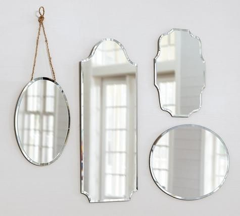 Accessories: Eleanor Frameless Mirrors from Pottery Barn: Remodelista