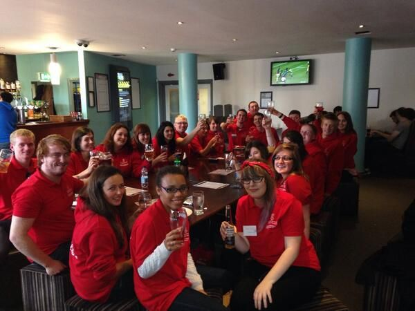 Post-Open Day drinks for some of our student ambassadors :)   (via @jameskerr89)