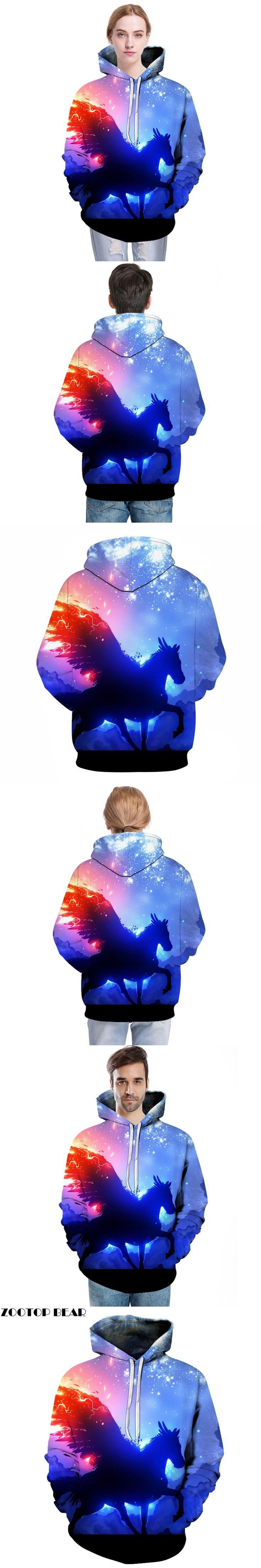 Galaxy Unicorn Printed Hoodies Men Women 3D Sweatshirts Unisex Hooded Pullover Brand Hoodie Casual Tracksuits Boy Jackets Coat