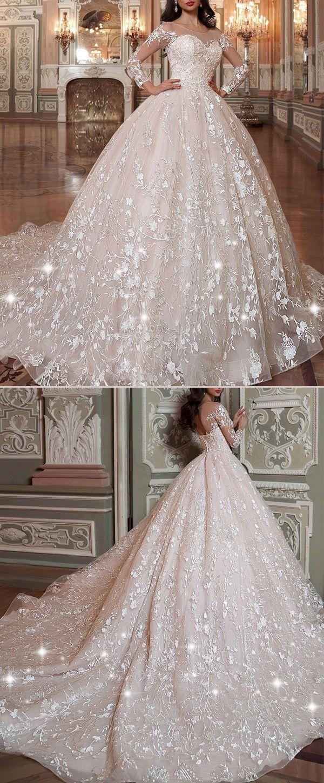 NEW! Attractive Tulle & Organza Scoop Neckline Ball Gown Wedding