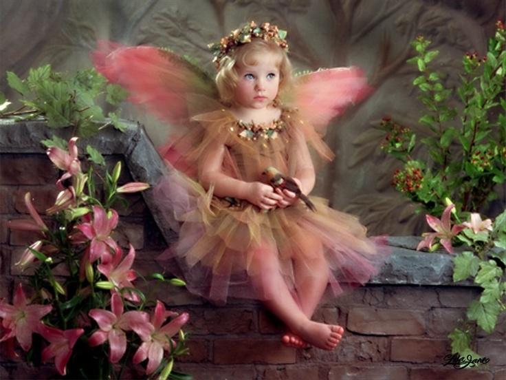 Картинки ангелов и фей с днем рождения
