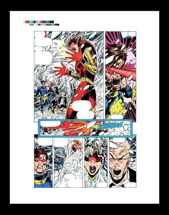 Chris Bachelo X Men Unlimited 1 Rare Production Art Pg 3 Ebay Art Classic Artwork X Men