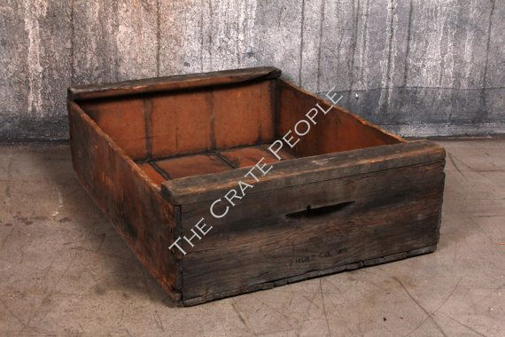 Vintage Wood Crates  Short Grape Crate  Hundreds by FoundInAttic, $20.00