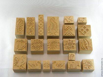 Купить Штампы для печати по ткани - коричневый, материалы для творчества, материалы для рукоделия, ручная роспись