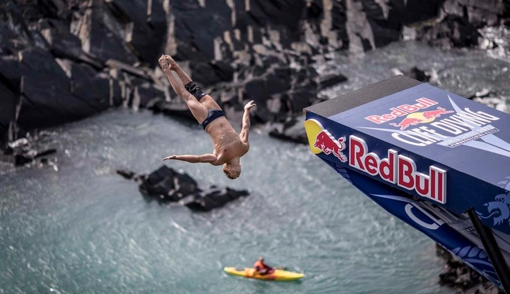 RED BULL CLIFF DIVE, Blue Lagoon, Pembrokeshire, Wales…