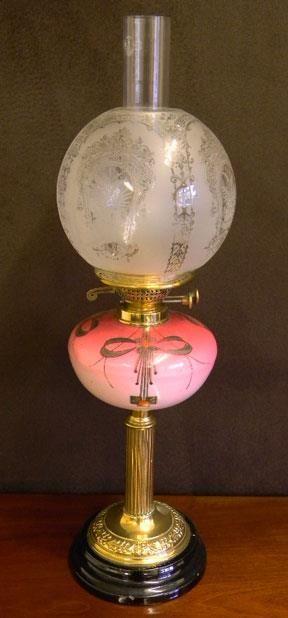pink vintage lantern
