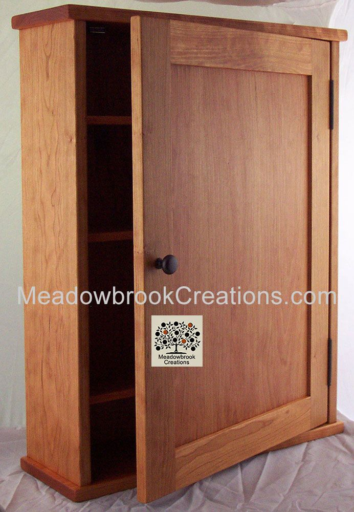 Shaker Style Surface Mounted Medicine Cabinet Cherry Oak Or