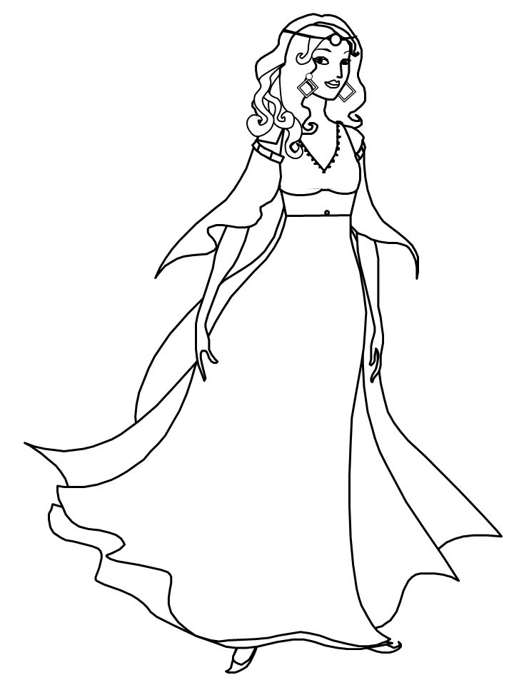 pretty girl coloring pages - Free Colouring Pages For Girls