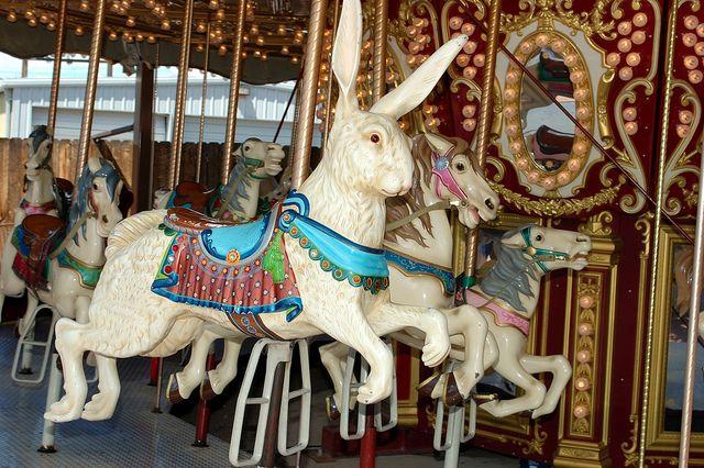 Carousel Animals,  Royal George Park - Colorado    http://www.royalgorgebridge.com