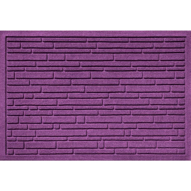 Aqua Shield Broken Brick Purple 17.5 in. x 26.5 in. Door Mat