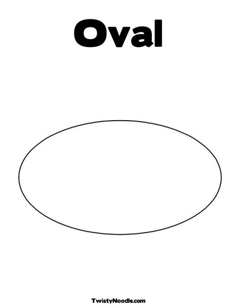 Oval Coloring Page from TwistyNoodlecom Preschool Pinterest