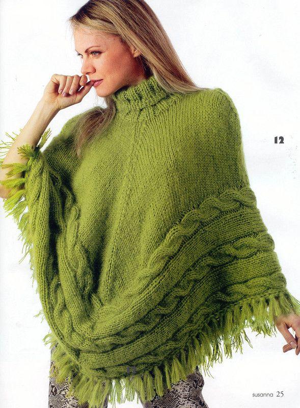 Free Knitting Patterns For Ponchos