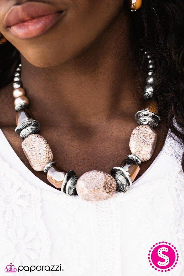 In Good Glazes - Peach Necklace