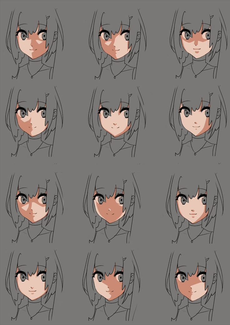 Anime face shading practice by momodesuuu on DeviantArt