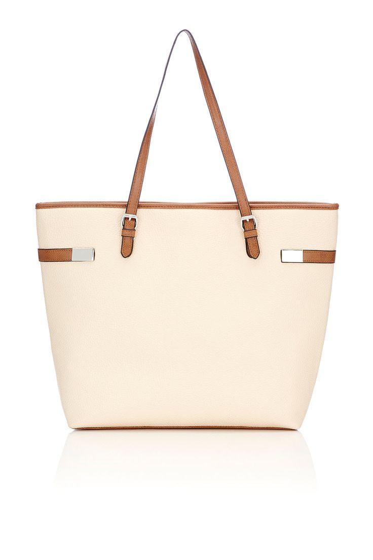 Cream Shopper Bag http://bit.ly/1xFfglD #WallisFashion