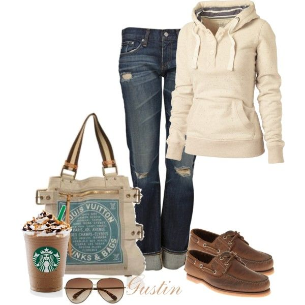 Saturday outfit.: Boats Shoes, Mondays, Dream Closet, Jeans, Comfy Casual, Fall Outfit, Casual Looks, Lv Bags, Starbucks