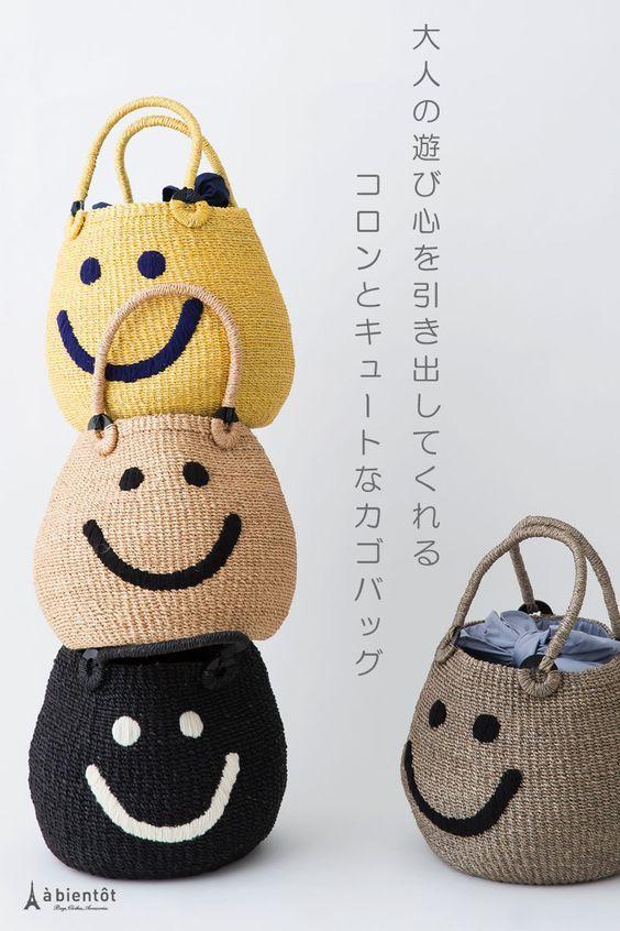 [A джоли] Ajori Улыбка вышивки корзины мешок
