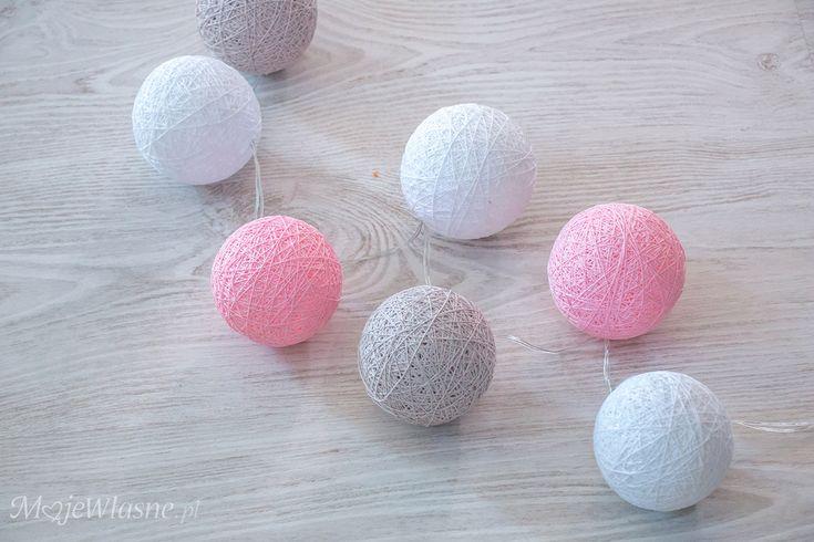 cotton balls light DIY 3
