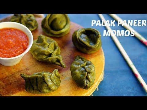 Palak Paneer Momos | How to fold Momos| Vegetarian Momos recipe in Hindi | Veg Dim Sum - YouTube
