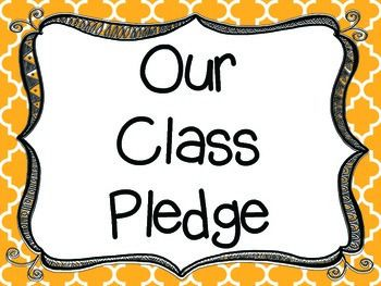 "In this download you'll find three different versions of ""Our Class Pledge"" (Pink, Yellow, Blank). This is the same pledge that my kids do everyday! They love to come up and recite the pledge to me without looking! This is a great motivator and supplement for"