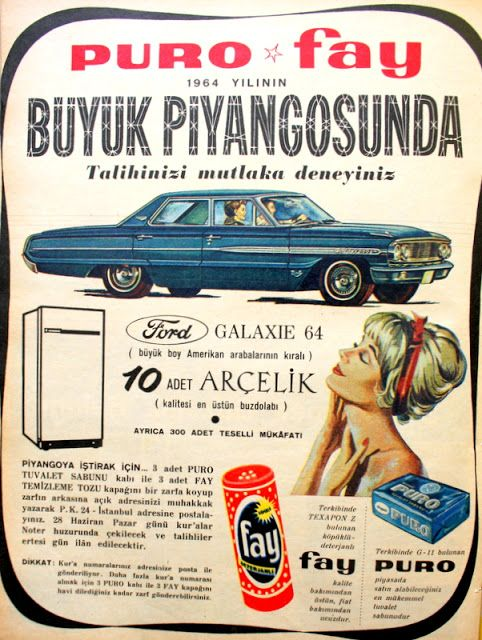Puro - Fay büyük piyangosu 1964 Ford Galaxie & Arçelik buzdolabı.