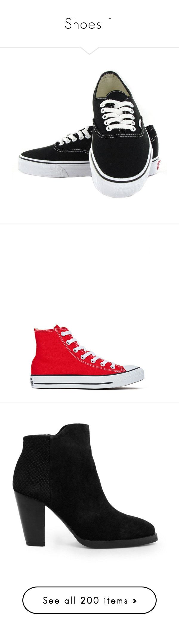 Shoes 1 by desdall on Polyvore featuring polyvore, fashion, shoes, sneakers, vans, sapatos, vans sneakers, kohl shoes, black shoes, vans footwear, black sneakers, converse, red, lace up shoes, high top trainers, low heel shoes, high top shoes, red hi tops, boots, ankle booties, heels, black, botas, black boots, block heel booties, heeled booties, suede ankle boots, suede booties, pumps, black high heel pumps, high heel pumps, black ankle strap pumps, black high heel shoes, black stilettos…